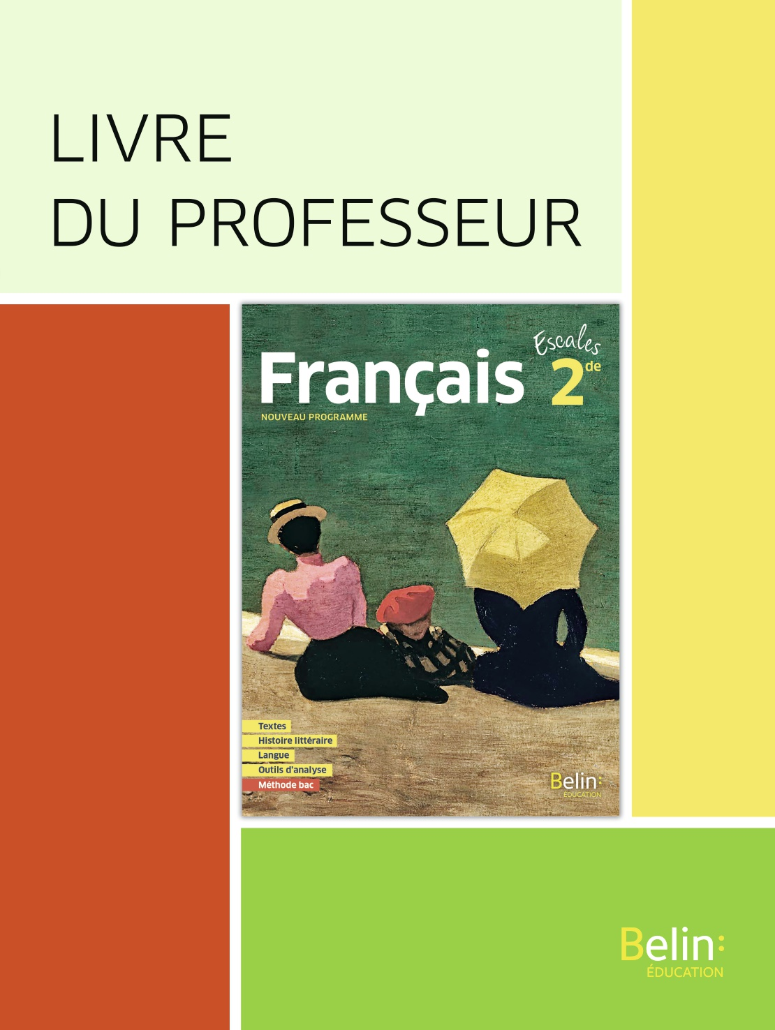 Francais Seconde 2019 Livre Du Professeur Belin Education