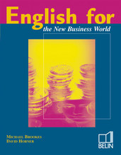 English for the New Business World - English for the New Business World is designed for those who are doing a business studies course or are already working in the world of business. It is intended for good intermediate level students and contains some 120 hours of coursework, although the material is also suitable for short courses where higher level learners may opt to do only some of the units.<BR><BR>Because of its coverage of the main business themes and its development of a variety of reading, listening and writing skills, English for the New Business World is an excellent preparations of the Franco-British Chamber of Commerce, the TOEIC and Cambridge Business English Certificate.<BR><BR>In addition, English for the New Business World systematically revises grammar points which learners traditionally find difficult and covers all the skills needed by business people for their work. Oral skills are developed extensively, but gradually, from highly-structured pairwork activities to much freer role plays and simulations.<BR><BR>The book aims to develop students' ability to cope with authentic language in authentic situations. A central feature of all the units is a business skills they have acquired.<BR><BR>English for the New Business World is also: <BR>- a set of two cassettes<BR>- a teacher's guide with an exercise key, progress tests and supplementary material.