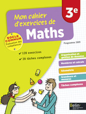 Cahier d'exercices Maths 3e -